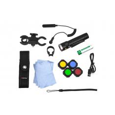 Набор: фонарь Led Lenser MT10 «Outdoor» + аксессуары, фильтры, аккумулятор, зарядка (500925)