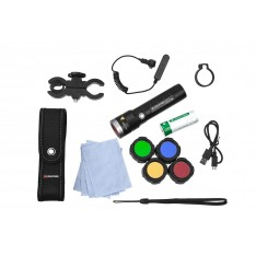 Набор: фонарь Led Lenser MT14 «Outdoor» + аксессуары, фильтры, аккумулятор, зарядка (500924)