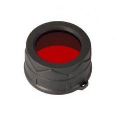 Диффузор-фильтр Nitecore NFR40 для фонарей с диаметром головы 40 мм, красный